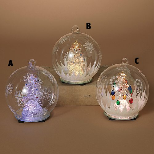 Lit Christmas Tree Ornaments