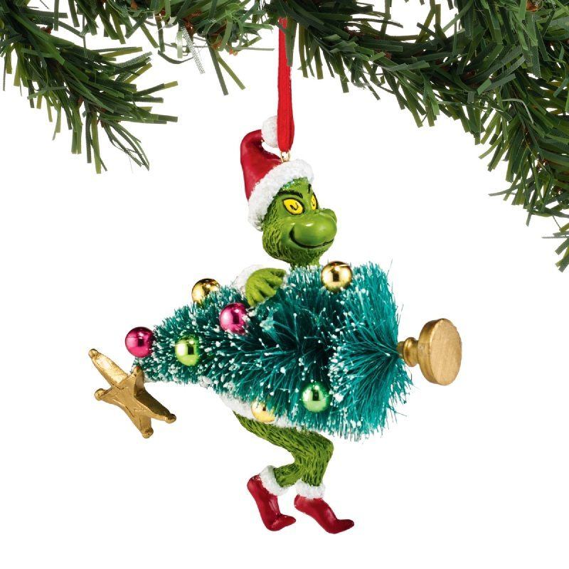 ... KidsGrinch Stealing Christmas Tree Ornament. 🔍. Cartoon ... - Grinch Stealing Christmas Tree Ornament - Christmas Store