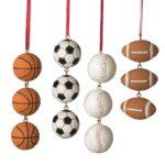 basketball soccer baseball football ornament
