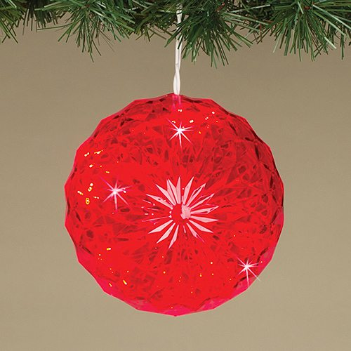 5 inch red crystal sphere nl890