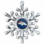 denver broncos snowflake ornament