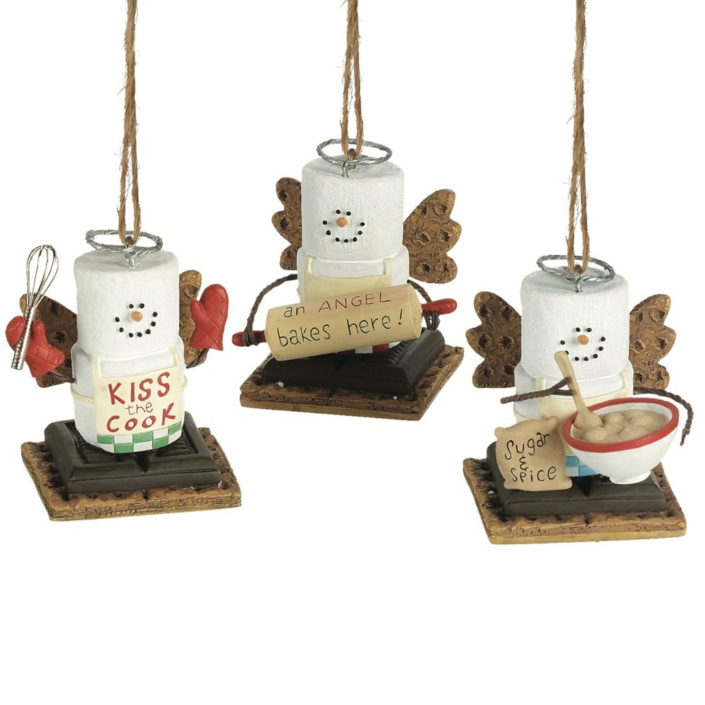 s'mores cooking ornaments