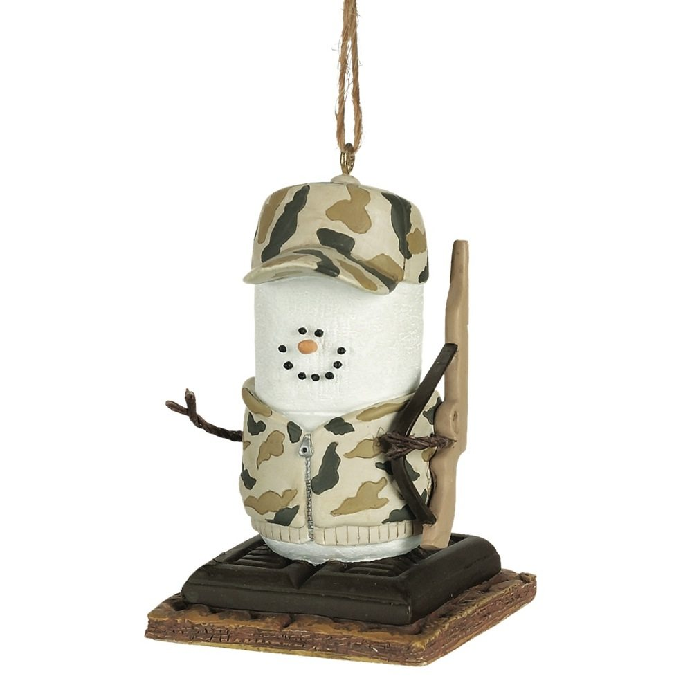 s'mores camo hunter ornament