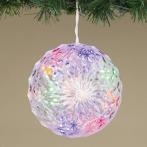 6 inch multi colored led crystal clear sphere