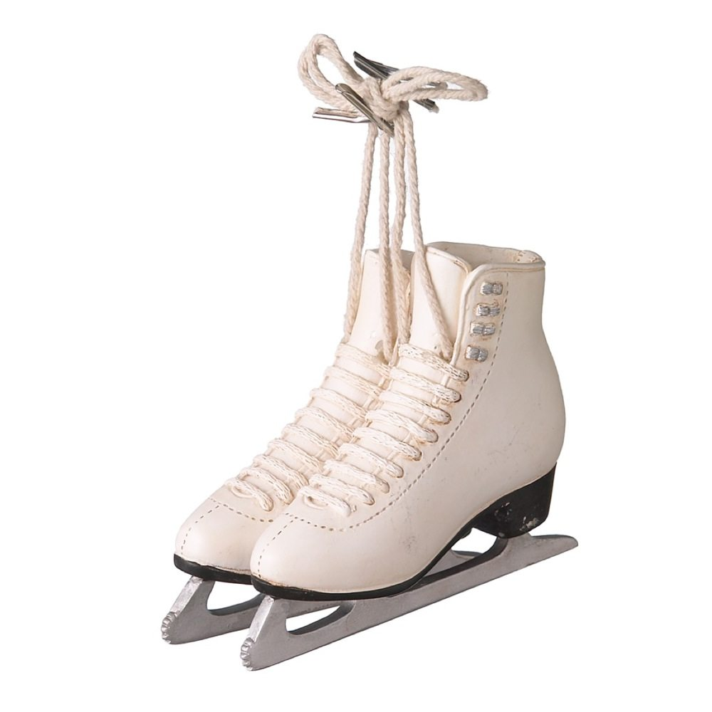 White Figure Skates Ornament - Christmas Store