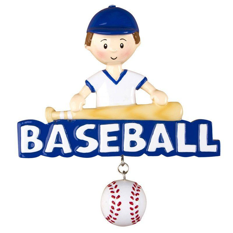 baseball boy ornament