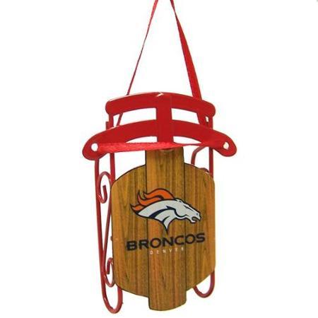 official denver broncos sled ornament