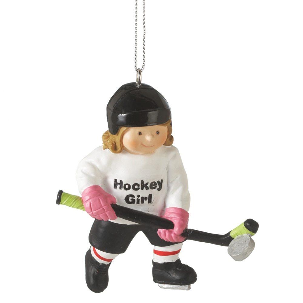 om492 hockey girl ornament