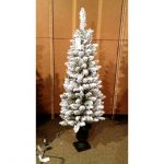 tr206973 4.5 foot flocked potted christmas tree