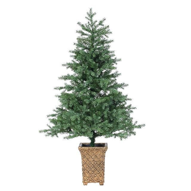 tr243511 5 foot potted christmas tree with no lights
