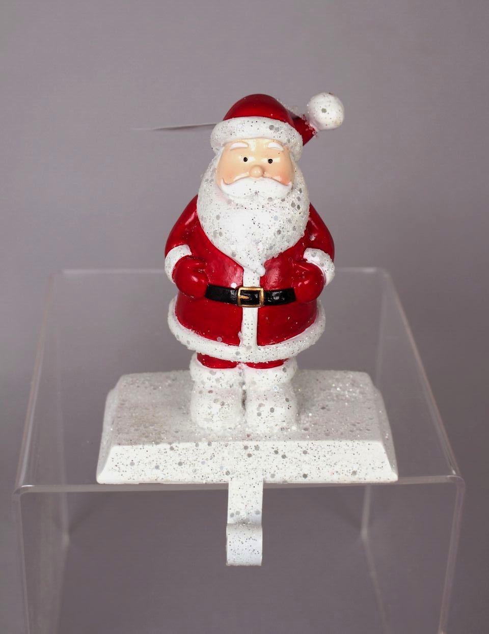 glittered santa stocking holder