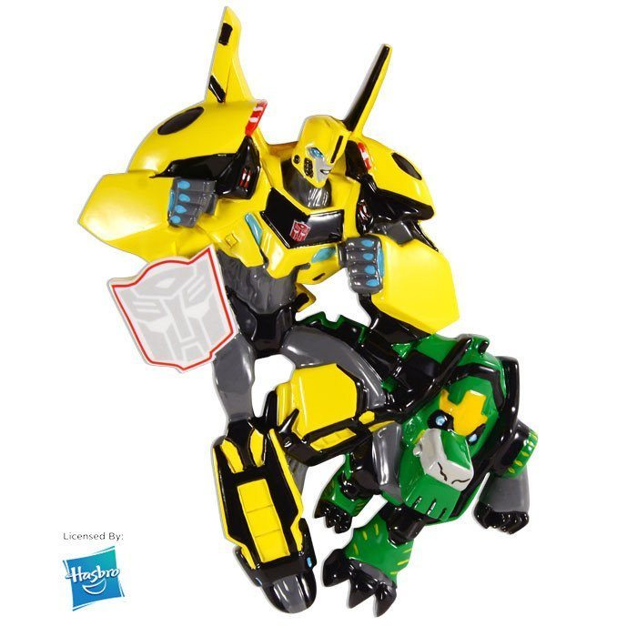 transformers bumble bee and grimlock ornament