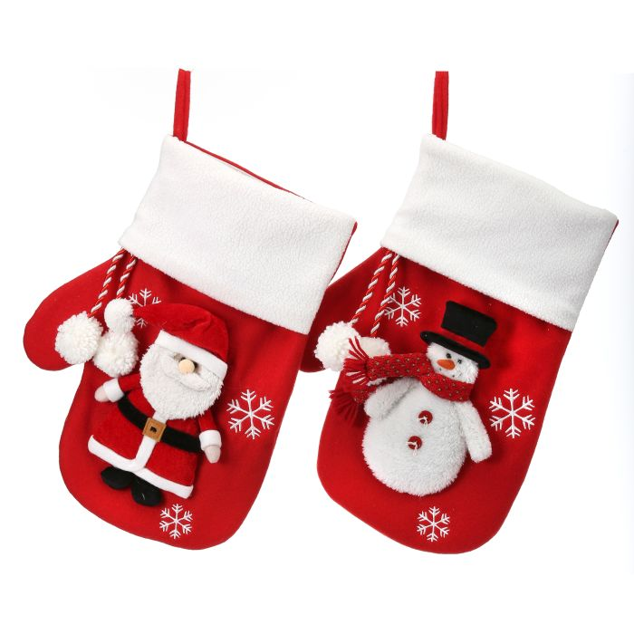santa or snowman stocking