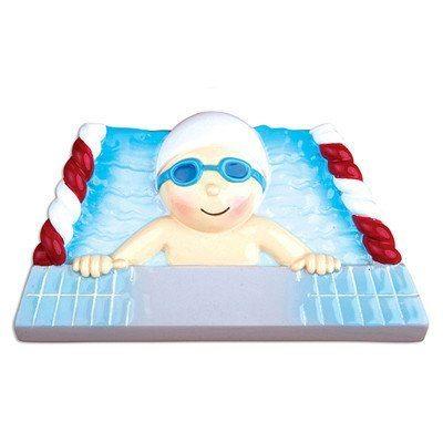 boy swimmer ornament