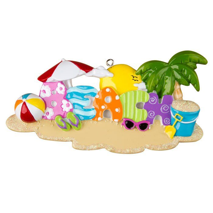 travel beach ornament