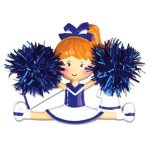 blue cheerleader ornament