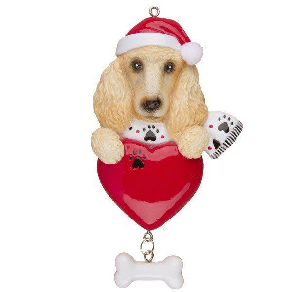 christmas poodle dog ornament