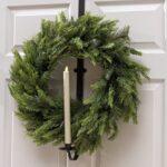 28 inch black wreath holder