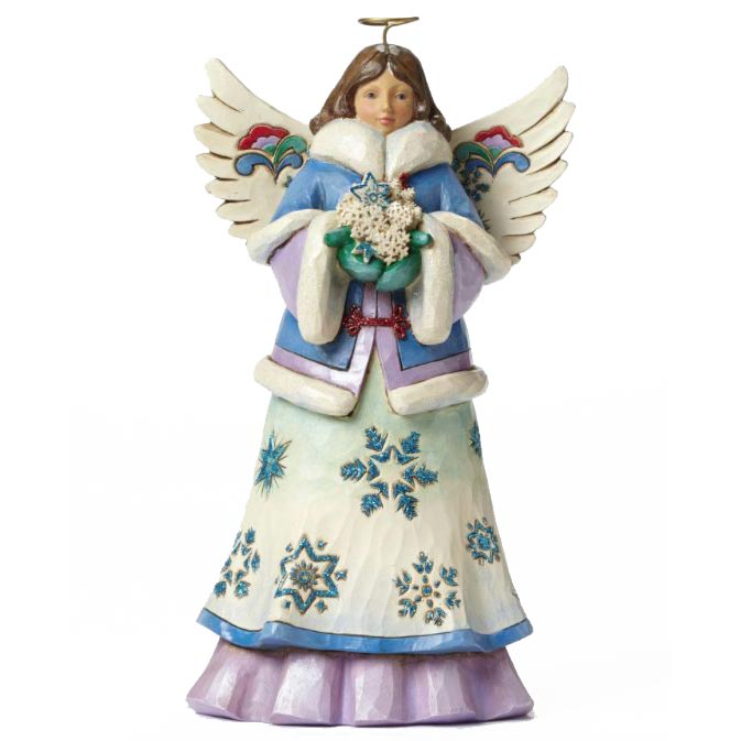 jim shore may blessings fall upon you angel figurine