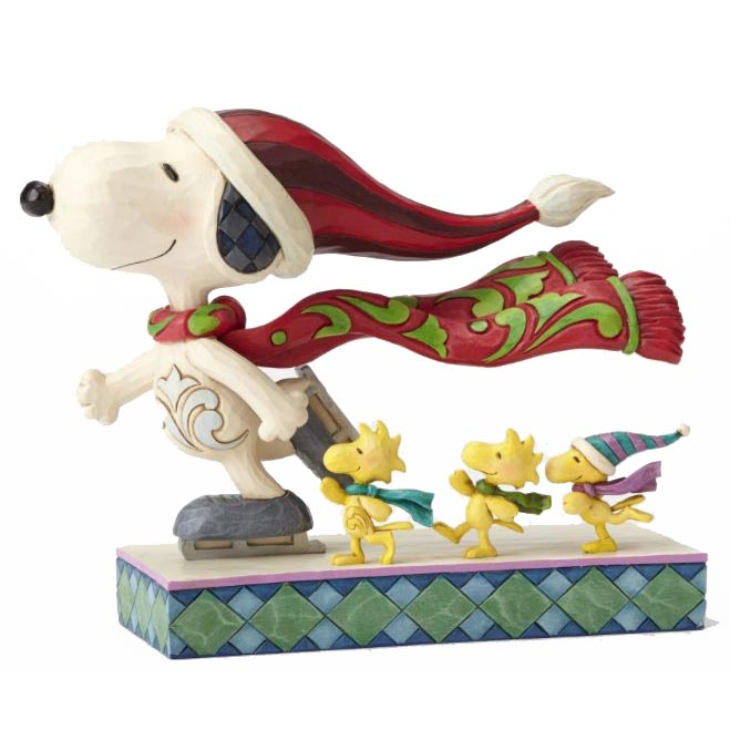 jim shore skate mates ice skating snoopy