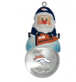 denver broncos nil football santa snow globe  ornament