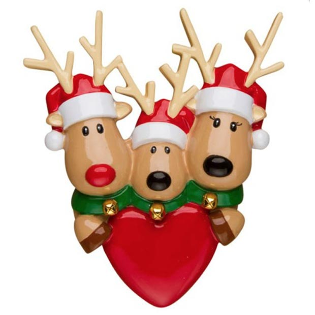 reindeer family of 3 ornament