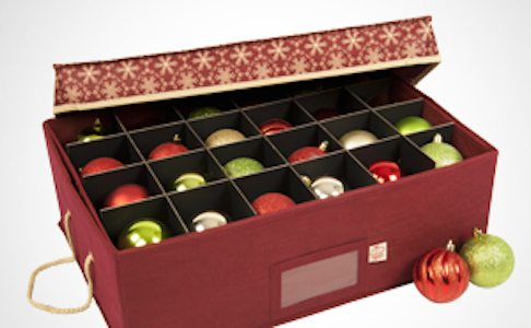 ac647 2 tray ornament storage box with top lid