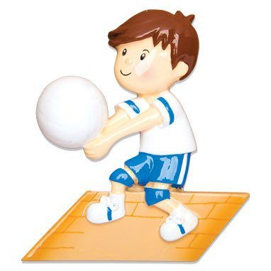 boy volleyball ornament