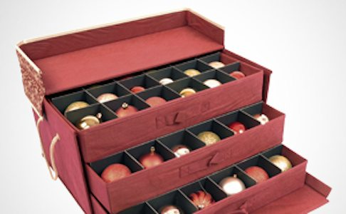 3 tray ornament drawer style box