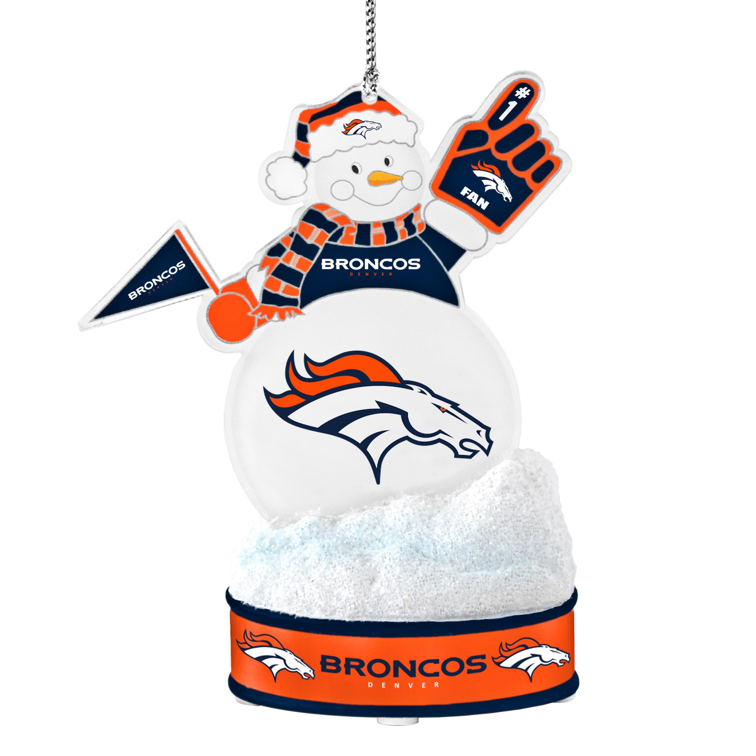 denver broncos snowman ornament