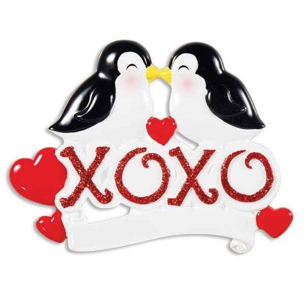 xoxo love penguin ornament