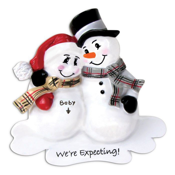 we're expecting snowmen ornament