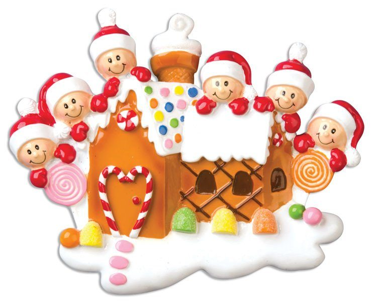 family of 6 gingerbread house
