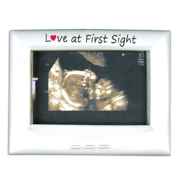 love at first sight ultrasound frame ornament
