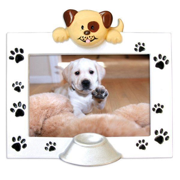 dog frame ornament