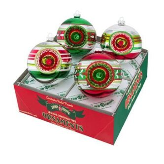 Christopher Radko holiday splendor 4 piece rounds