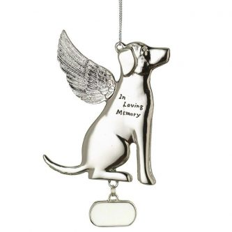 in loving memory dog memorial ornament