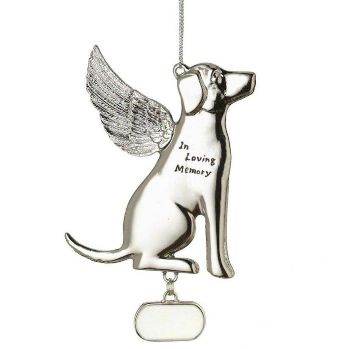 in loving memory dog memorial ornament