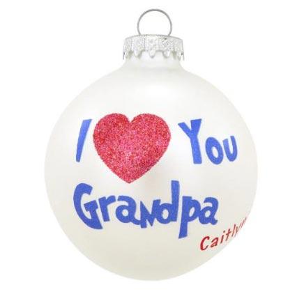 I love You Grandpa Ornament