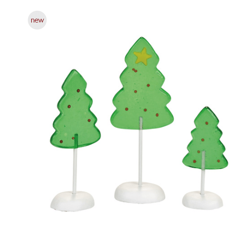 department 56 Candy Corner trees