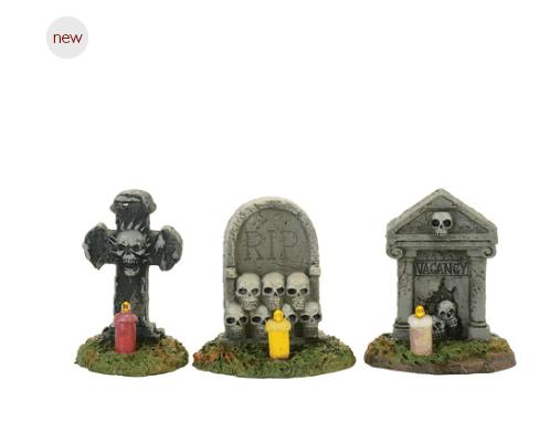 department 56 spooky graveyard vigil