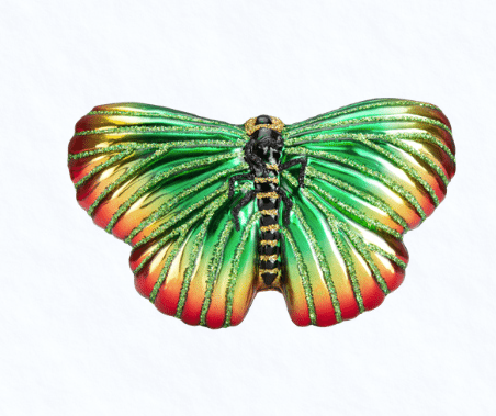 old world christmas festive butterfly ornament