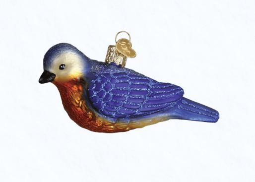 old world christmas western bluebird ornament