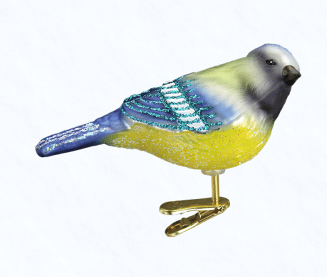 old world christmas blue tit clip on ornament