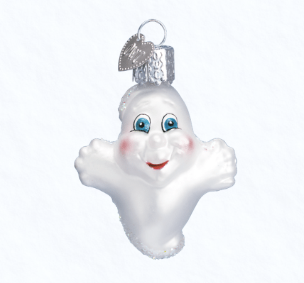 old world christmas miniature ghost ornament