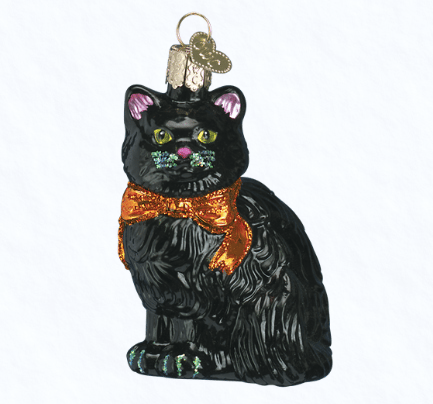 old world christmas halloween kitty ornament