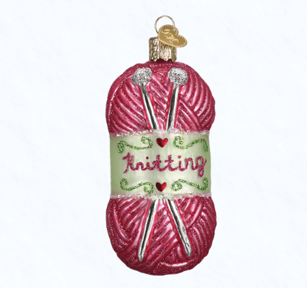 old world christmas knitting yarn ornament