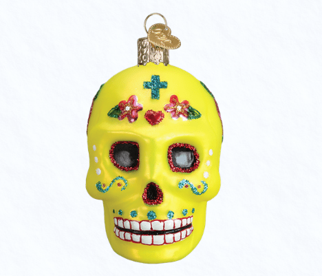 old world christmas sugar skull ornament