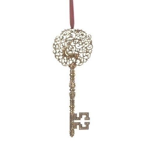 santa claus book of secrets gold key ornament