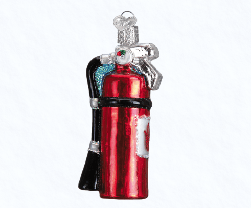 old world christmas fire extinguisher ornament